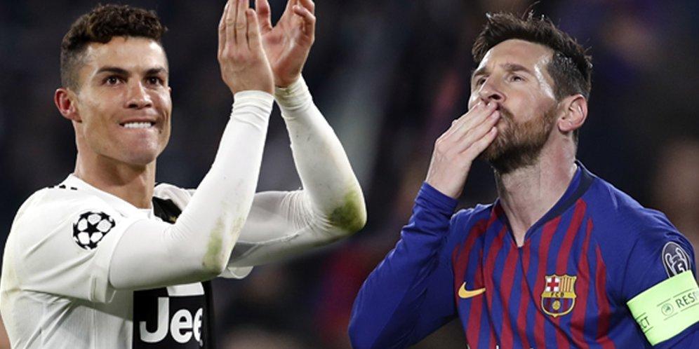 Cristiano Ronaldo dan juga Lionel Messi